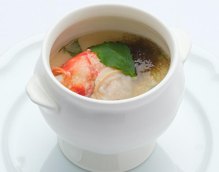 国産蛤とタラバガニのロワイヤル