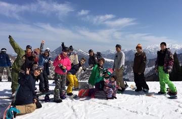 スキーだわいわい!