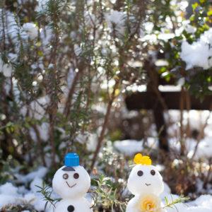 エスポワールの冬 スタッフ特製雪だるま