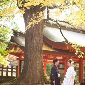 神前式は紅葉のシーズンでもある秋もおすすめです