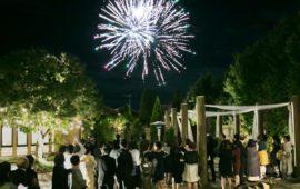 エスポワールといえば花火!夜空にスターマインの大輪の花を咲かせて最高のフィナーレを