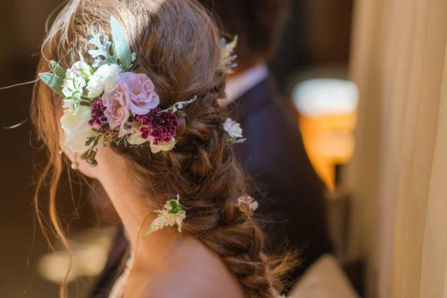 結婚式のヘアスタイル:おろし髪編