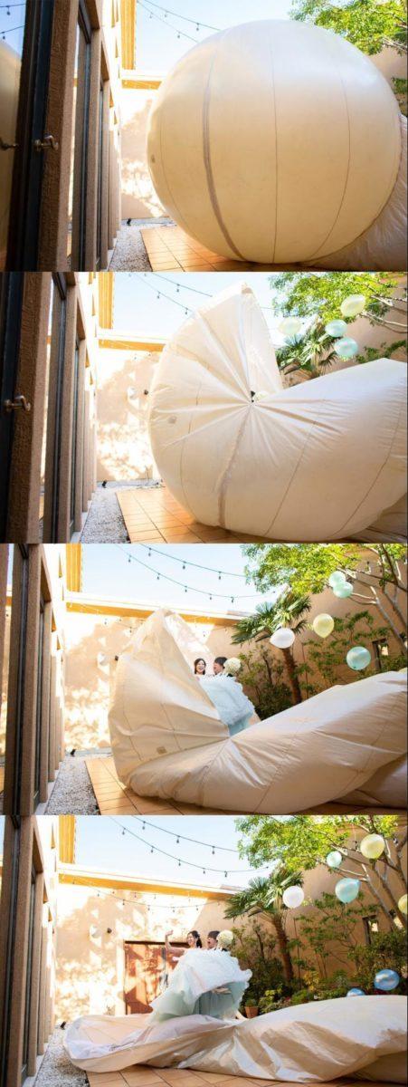 結婚式 バルーンで登場