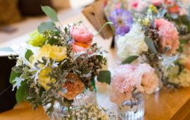 メインカラフル装花