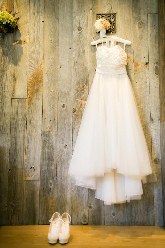 背の低い花嫁さまハイヒールとドレス_エスポワール