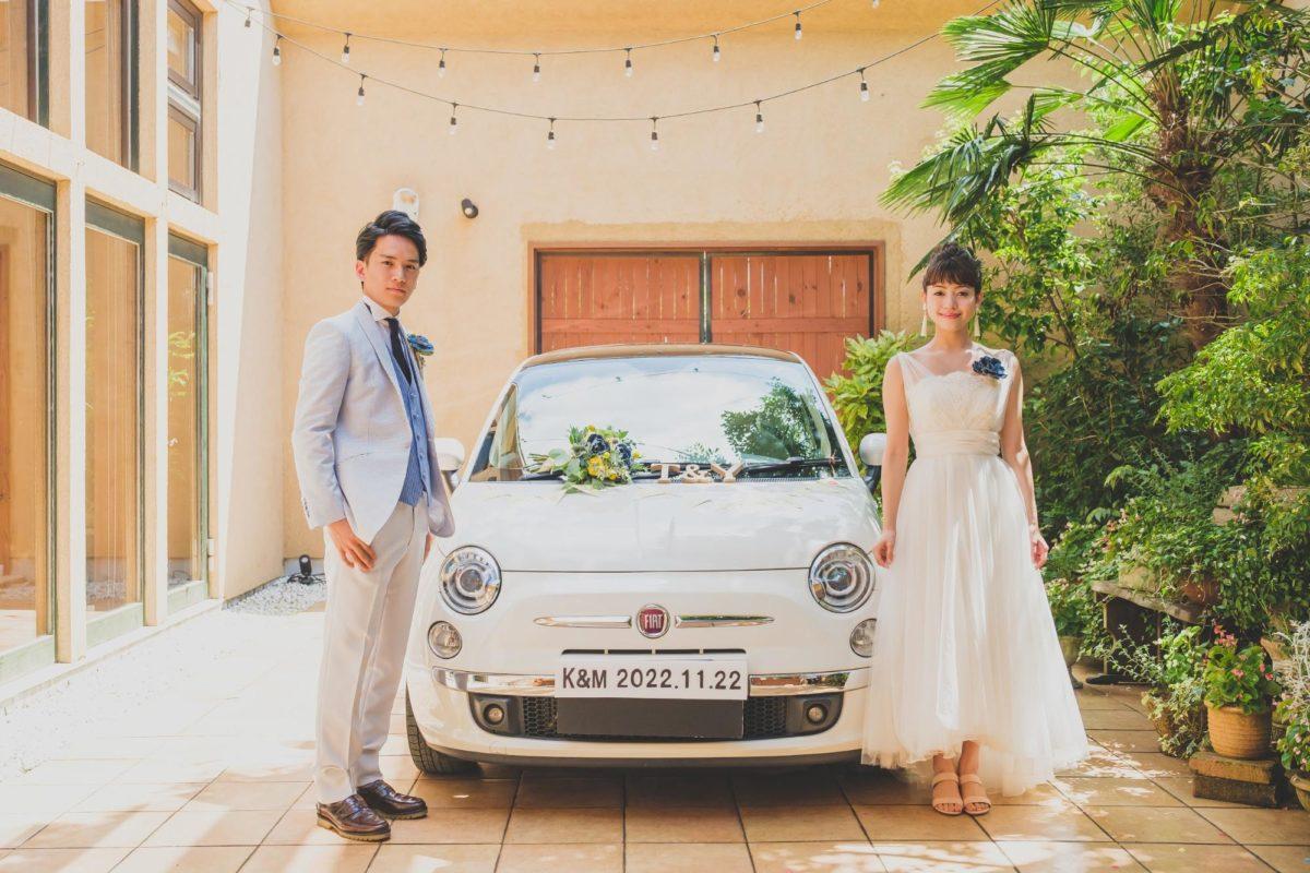 結婚式フォト〜車と一緒〜_エスポワール